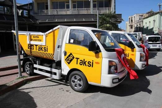 Bafra Belediyesi; Çöp Taksilerle Hizmete Başlıyor