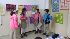 İsmet İnönü İlkokulu'nda Skeç Çalışması