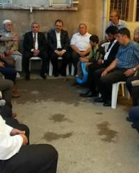 Kaymakam Arslan'dan Şehit Ailesine Taziye Ziyareti