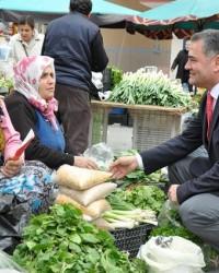 MHP Aday Adayı Karanfil; Çarşı - Pazar Geziyor