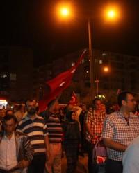 Bafra'da Mehteran'lı Demokrasi Yürüyüşü