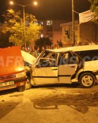 Bafra'da Zincirleme Trafik Kazası; 8 Yaralı