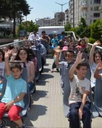 Bafra'da Üstü Açık Otobüsle Şehir Turu Gezileri