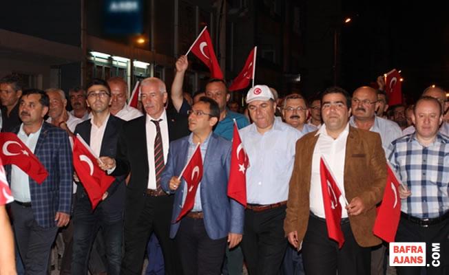 Alaçam'da 15 Temmuz Demokrasi ve Milli Birlik Gününü Kutladı