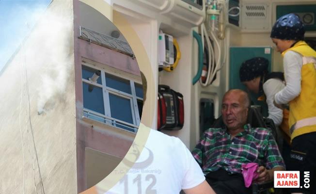 Bafra'da Çıkan Yangında Bir Kişi Dumandan Zehirlendi
