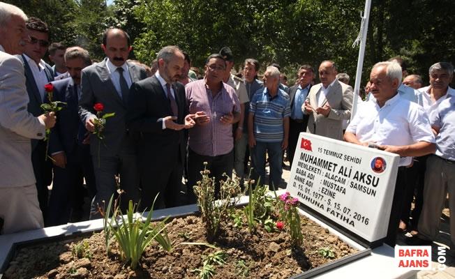 Bakan Kılıç; Şehit M. Ali Aksu'nun Kabrini Ziyaret Etti
