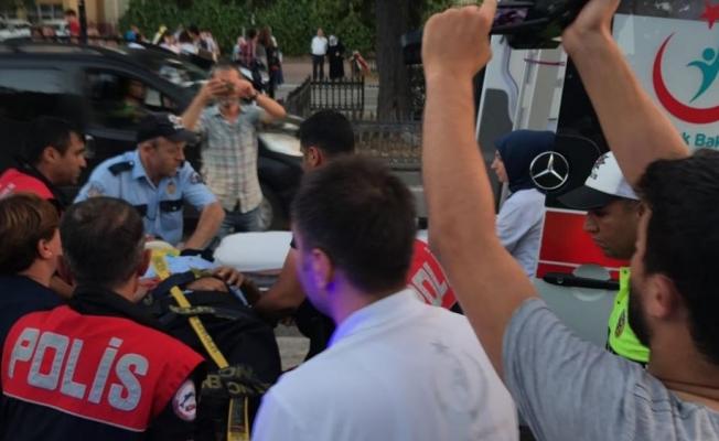 Samsun'da kamyonetin çarptığı polis yaralandı