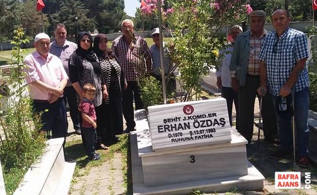 Şehit Erhan Özdaş; Kabri Başında Dualarla Anıldı
