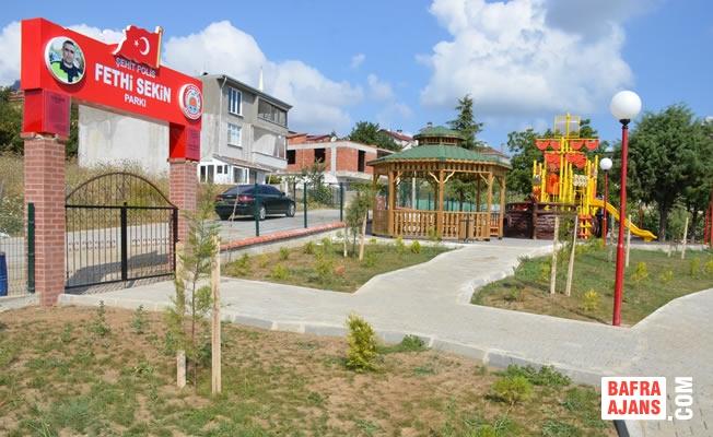19 Mayıs İlçesinde Şehit Polis Fethi Sekin Parkı Tamamlandı