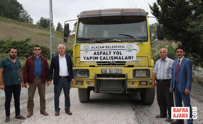 Alaçam Belediyesi; Asfalt Yol Seferberliğine Devam Ediyor