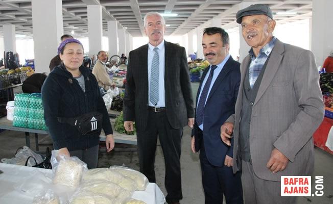 Alaçam Belediye Başkanı Hadi Uyar Pazar Esnafını Ziyaret Etti