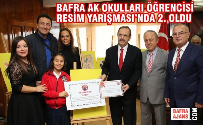 Bafra AK Okulları Öğrencisi Resim Yarışması'nda 2. Oldu