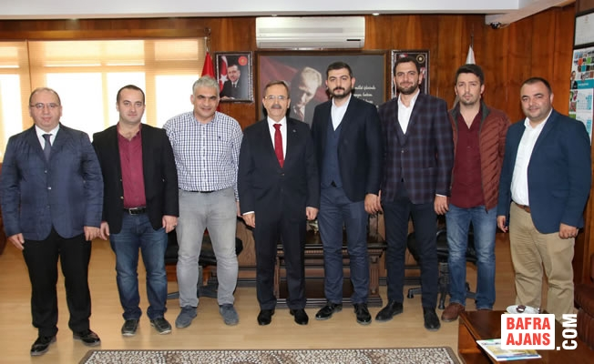 MMG Samsun Şubesi'nden Başkan Şahin'e Ziyaret