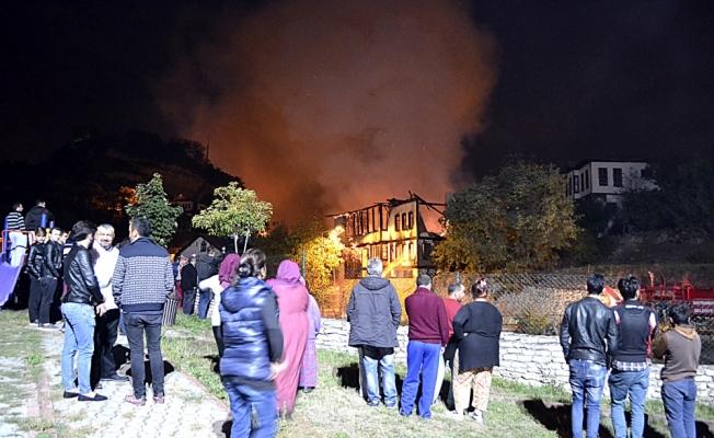 Safranbolu'da tarihi konakta yangın