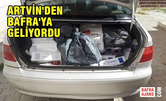 Samsun'da Kaçak Sigara ve Kaçak İçki Operasyonu