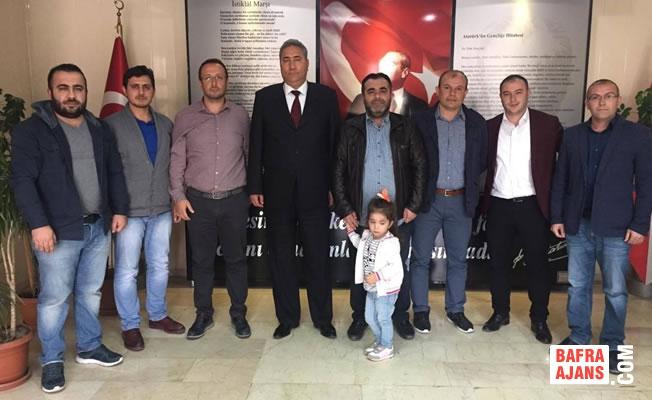 Türk Eğitim Sen'den Bafra Emniyet Müdürüne Ziyaret