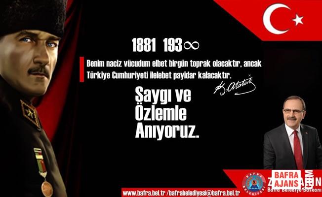"""Başkan Şahin; """"Büyük Önder Atatürk Işığımızdır"""""""