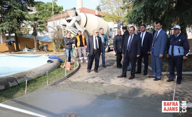 Başkan Şahin; Cumhuriyet Meydanındaki Çalışmaları İnceledi