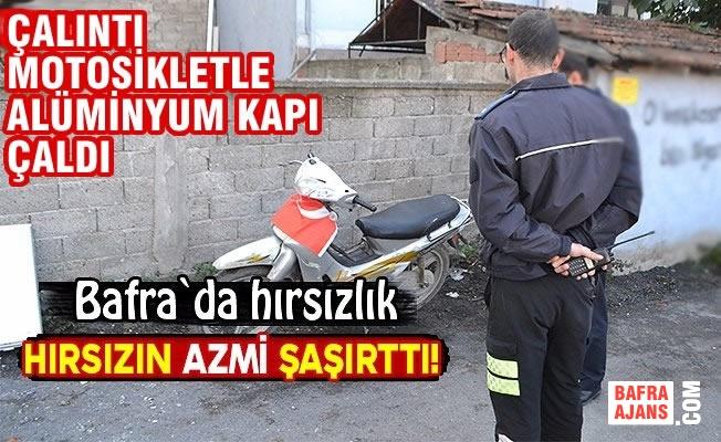 Çalıntı Motosikletle Alüminyum Kapı Çaldı