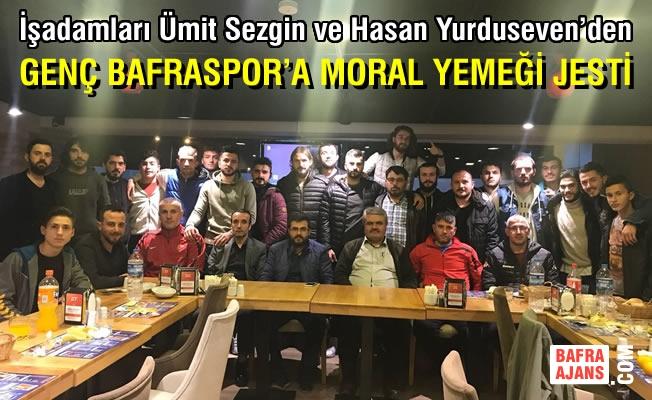 Genç Bafraspor Oyuncuları ve Yönetimine Moral Yemeği