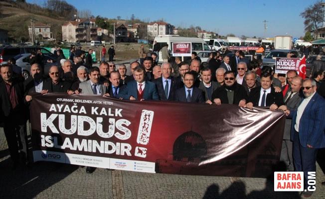 Alaçam'da ABD'nin Kudüs Kararı Protesto Edildi