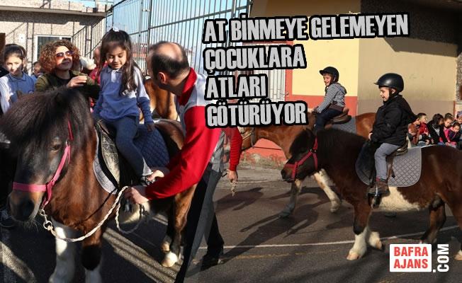At Binmeye Gelemeyen Çocuklara Atları Götürüyor