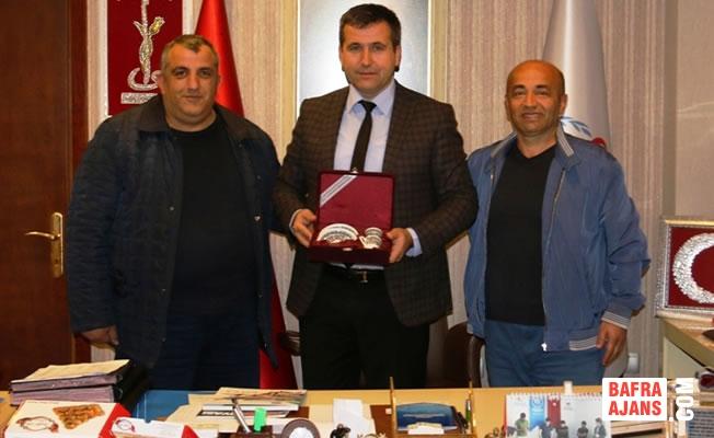 Bafra Veteranlar Kulübü Spor İl Müdürünü Ziyaret Etti.