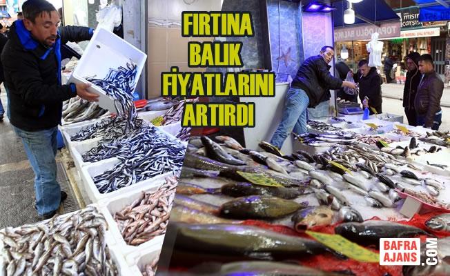 Karadeniz'de Fırtına Balık Fiyatlarını Artırdı