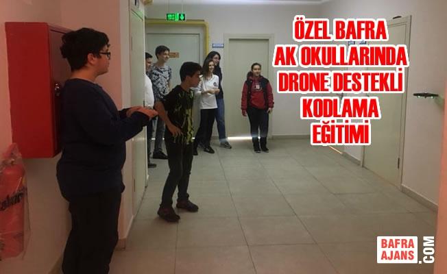 Özel Bafra AK Okullarında Drone Destekli Kodlama Eğitimi