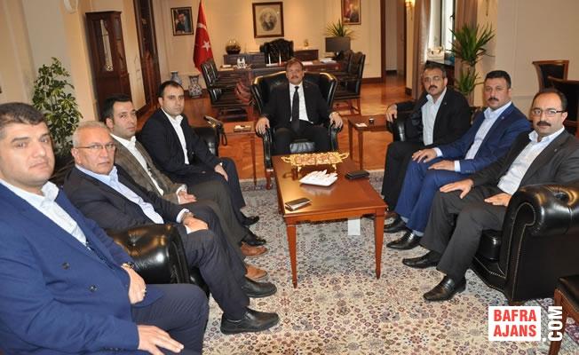 Samsun Büro Memur-Sen, Başbakan Yardımcısı Çavuşoğlu'yla Görüştü