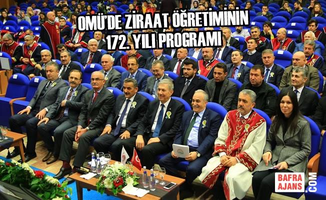 OMÜ'de Ziraat Öğretiminin 172. Yılı Programı