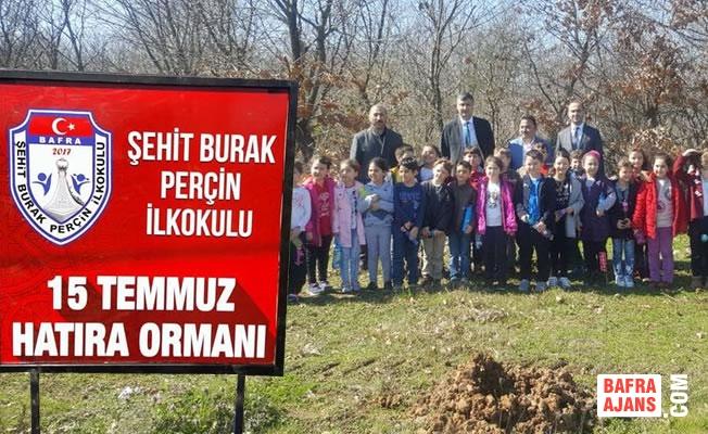Şehit Burak Perçin Okulu Hatıra Ormanı