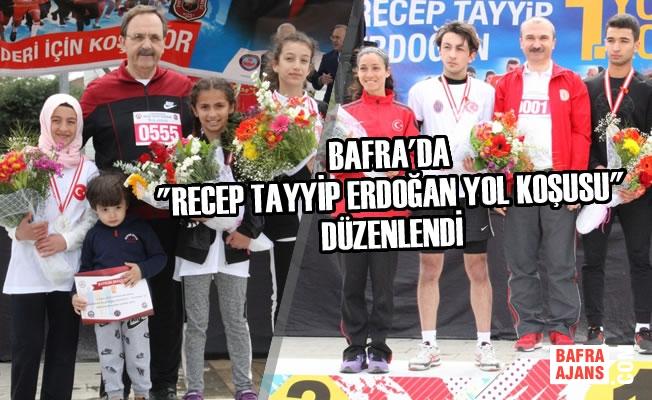 """Bafra'da """"Recep Tayyip Erdoğan Yol Koşusu"""" Düzenlendi"""