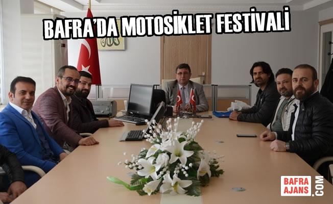 Bafra Motosiklet Kulübü'nden Kaymakam Türkel'e Ziyaret