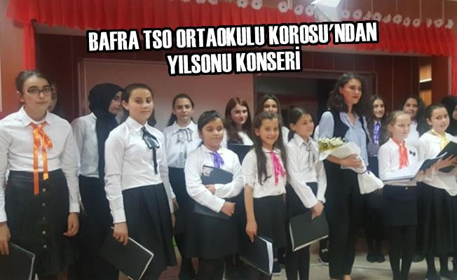Bafra TSO Ortaokulu Korosu'ndan Yılsonu Konseri