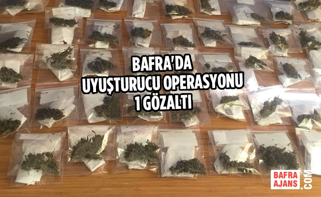 Bafra'da Uyuşturucu Operasyonu; 1 Gözaltı