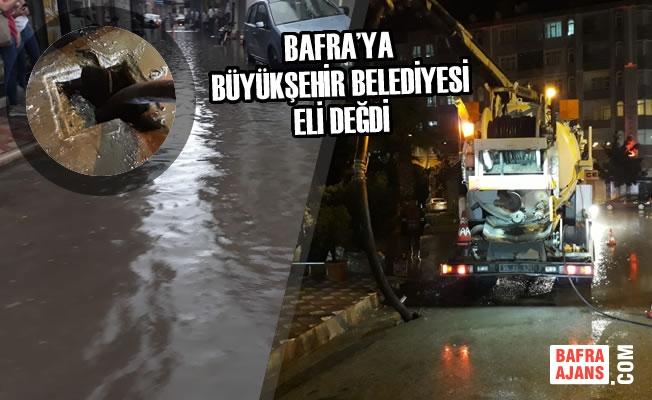 Bafra'ya Büyükşehir Belediyesi Eli Değdi