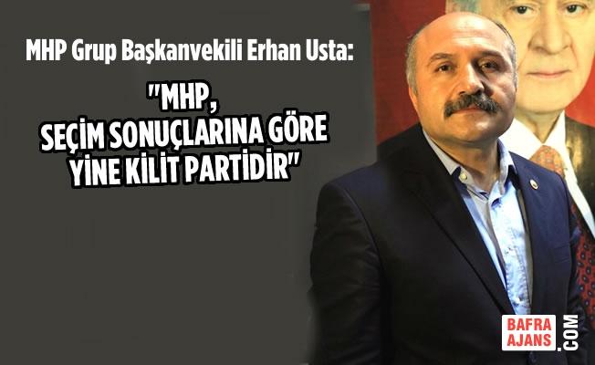 """Usta; MHP, Seçim Sonuçlarına Göre Yine Kilit Partidir"""""""