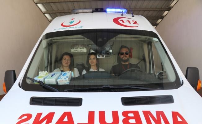 Ambulanslarda tabletli siren uygulaması