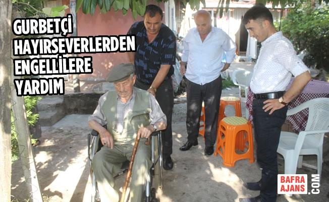 Gurbetçi Hayırseverlerden Engellilere Yardım