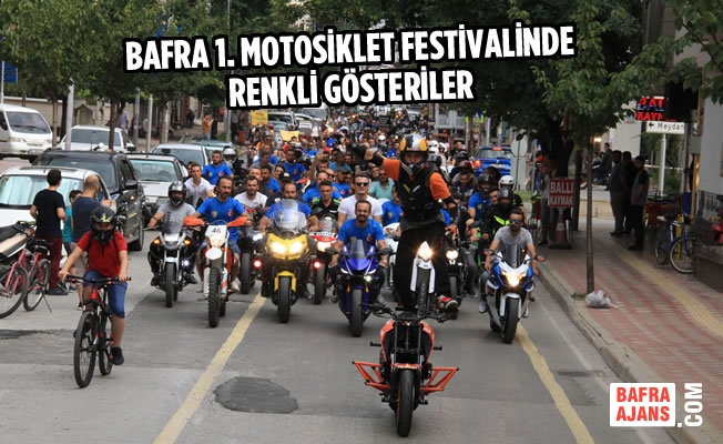 Bafra 1. Motosiklet Festivalinde Renkli Gösteriler