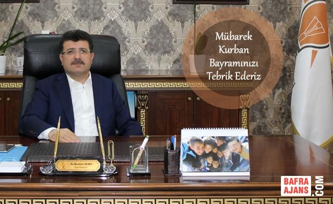 Başkan Semiz'den Kurban Bayramı Mesajı