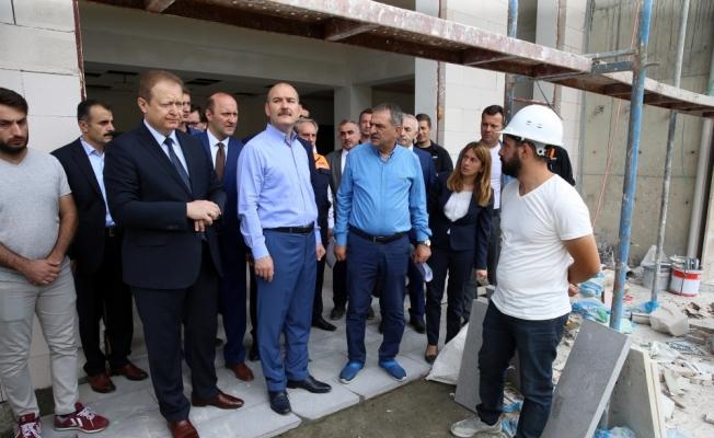 İçişleri Bakanı Soylu, kamu yatırımlarını inceledi