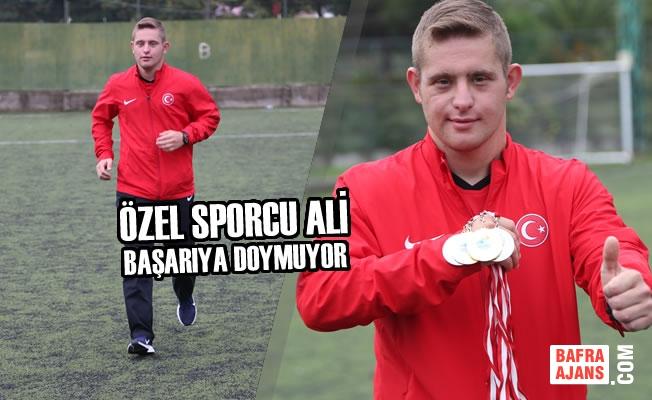 Özel Sporcu Ali Başarıya Doymuyor