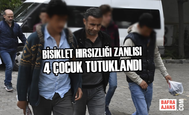 Samsun'da Bisiklet Hırsızlığı Zanlıları Tutuklandı
