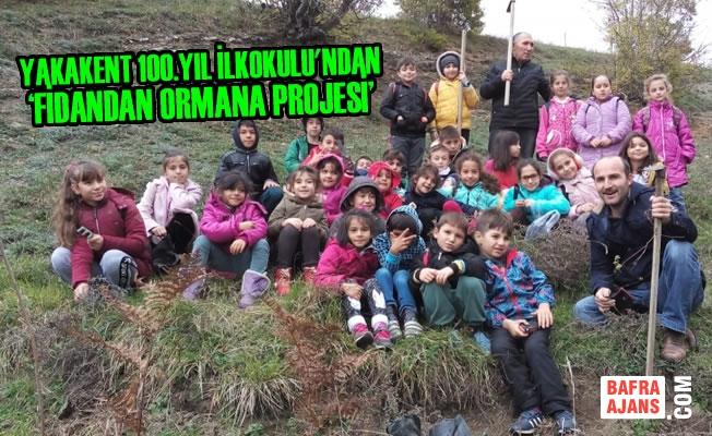 Yakakent 100.Yıl İlkokulu'ndan 'Fidandan Ormana Projesi'