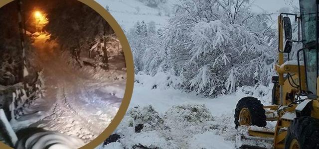 Alaçam İlçesinde Karla Mücadele Çalışmaları Başladı