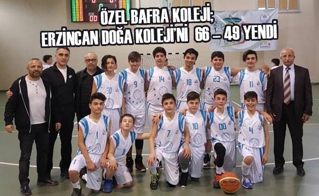 Özel Bafra Koleji; Erzincan Doğa Koleji'ni 66 – 49 Yendi