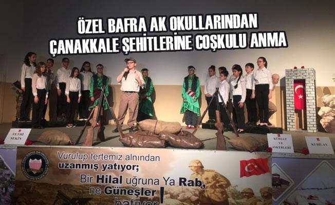 Özel Bafra AK Okullarından Çanakkale Şehitlerine Coşkulu Anma