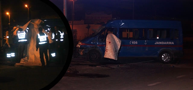 Bafra'da Trafik Kazası; 1 Asker Şehit, 5 Yaralı